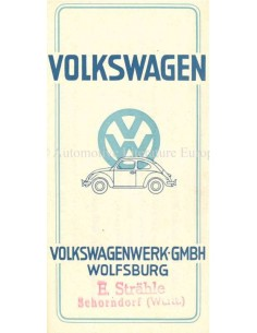 1948 VOLKSWAGEN BROCHURE GERMAN