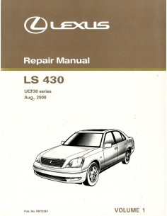 2000 LEXUS LS430 UCF30 SERIES ENGINE REPAIR MANUAL ENGLISH