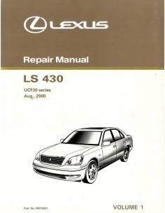 2000 LEXUS LS430 UCF30 SERIES WERKSTATTHANDBUCH ENGLISCH