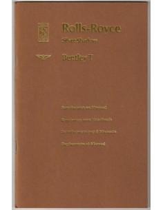 1970 ROLLS ROYCE SILVER SHADOW / BENTLEY T SERIES BETRIEBSANLEITUNG ZUSATZ
