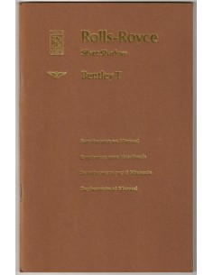1970 ROLLS ROYCE SILVER SHADOW / BENTLEY T SERIES OWNERS MANUAL SUPPLEMENT