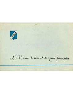 1952 TALBOT-LAGO BROCHURE FRANS