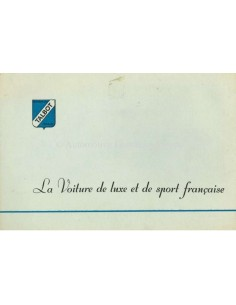 1952 TALBOT-LAGO BROCHURE FRENCH
