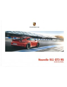 2016 PORSCHE 911 GT3 RS HARDCOVER BROCHURE FRENCH