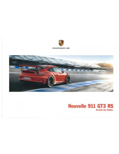 2016 PORSCHE 911 GT3 RS HARDCOVER PROSPEKT FRANZÖSISCH