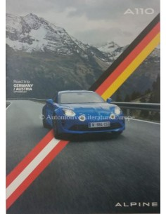 2018 ALPINE A110 ROADTRIP GERMANY / AUSTRIA BROCHURE