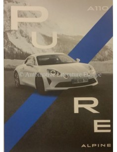 2018 ALPINE A110 PURE BROCHURE FRENCH / ENGLISH