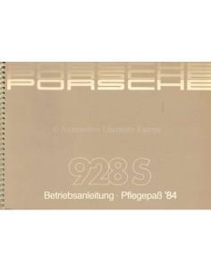 1984 PORSCHE 928 S INSTRUCTIEBOEKJE + SERVICEBOEKJE DUITS