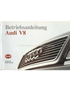 1990 AUDI V8 OWNERS MANUAL HANDBOOK GERMAN