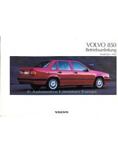 1992 VOLVO 850 OWNERS MANUAL HANDBOOK GERMAN