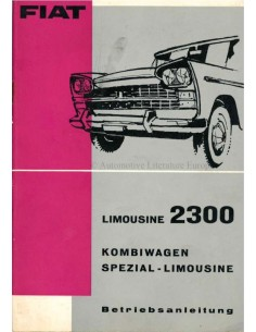 1962 FIAT 2300 SPECIAL SALOON OWNERS MANUAL GERMAN