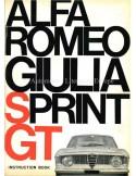 1966 ALFA ROMEO GT JUNIOR 1300 BETRIEBSANLEITUNG ENGLISCH
