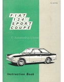 1969 FIAT 124 SPORT COUPE OWNERS MANUAL ENGLISH