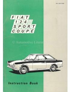 1969 FIAT 124 SPORT COUPE INSTRUCTIEBOEKJE ENGELS