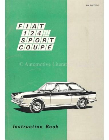 1969 FIAT 124 SPORT COUPE BETRIEBSANLEITUNG ENGLISCH