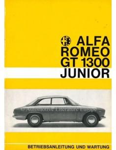 1969 ALFA ROMEO GT JUNIOR 1300 BETRIEBSANLEITUNG GERMAN