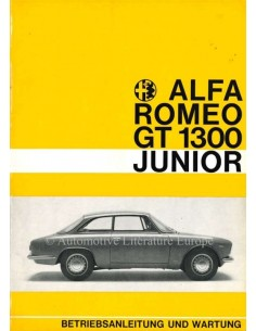 1969 ALFA ROMEO GT JUNIOR 1300 OWNERS MANUAL GERMAN