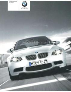 2007 BMW M3 COUPE INSTRUCTIEBOEKJE ENGELS