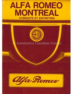 1972 ALFA ROMEO MONTREAL OWNERS MANUAL FRENCH