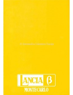 1975 LANCIA BETA MONTECARLO BROCHURE ITALIAN