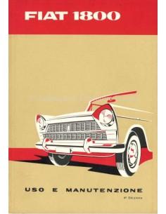 1960 FIAT 1800 OWNERS MANUAL ITALIAN