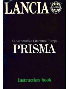1983 LANCIA PRISMA OWNERS MANUAL ENGLISH