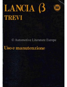 1981 LANCIA BETA TREVI OWNERS MANUAL ITALIAN