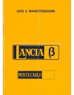 1975 LANCIA BETA MONTE-CARLO BETRIEBSANLEITUNG ITALIENISCH