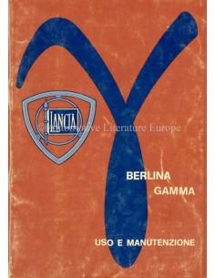 1976 LANCIA GAMMA LIMOUSINE BETRIEBSANLEITUNG ITALIENISCH