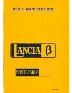 1976 LANCIA BETA MONTE-CARLO BETRIEBSANLEITUNG ITALIENISCH