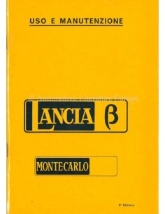 1976 LANCIA BETA MONTE-CARLO OWNERS MANUAL ITALIAN