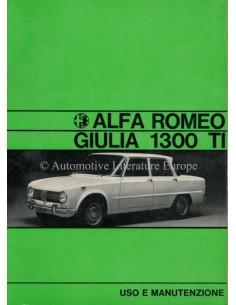 1971 ALFA ROMEO GIULIA 1300 TI OWNERS MANUAL ITALIAN