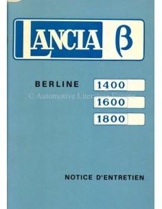 1973 LANCIA BETA LIMOUSINE BETRIEBSANLEITUNG FRANZÖSISCH