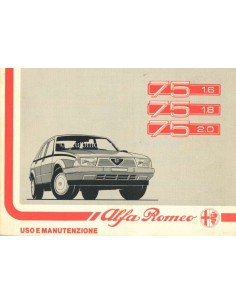 1988 ALFA ROMEO 75 OWNERS MANUAL ITALIAN