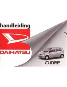 2003 DAIHATSU CUORE OWNERS MANUAL HANDBOOK DUTCH