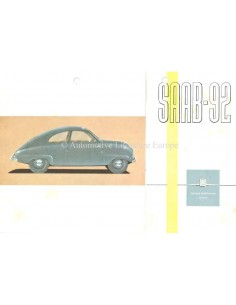 1953 SAAB 92 BROCHURE ENGLISH