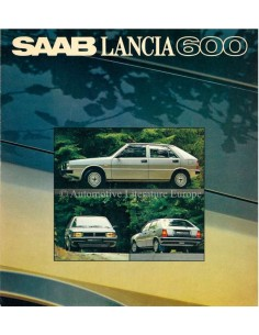 1980 SAAB LANCIA 600 BROCHURE SWEDISH