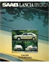 1980 SAAB LANCIA 600 PROSPEKT SCHWEDISCH