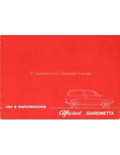 1976 ALFA ROMEO ALFASUD GIARDINETTA OWNERS MANUAL ITALIAN