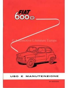 1962 FIAT 600 D OWNERS MANUAL ITALIAN