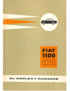 1961 FIAT 1100 OWNERS MANUAL SPANISH