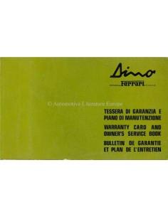 1974 FERRARI 308 GT4 DINO GARANTIEBOEK 90/74