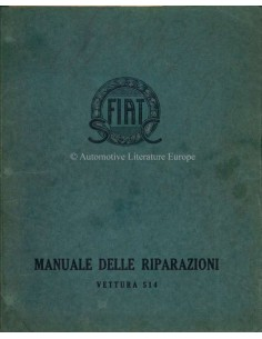 1930 FIAT 514 WORKSHOP MANUAL ITALIAN