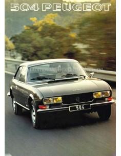 1977 PEUGEOT 504 BROCHURE DUTCH