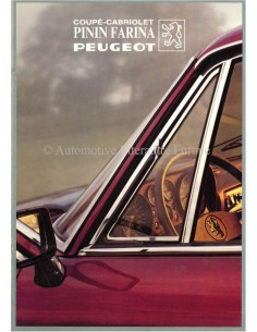 1982 PEUGEOT PININFARINA COUPÉ / CABRIOLET BROCHURE FRENCH