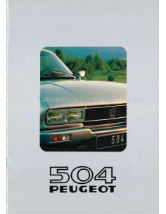 1981 PEUGEOT 504 BROCHURE DUTCH