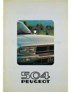1980 PEUGEOT 504 BROCHURE DUTCH