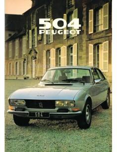 1979 PEUGEOT 504 BROCHURE DUTCH