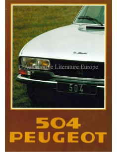 1978 PEUGEOT 504 BROCHURE DUTCH