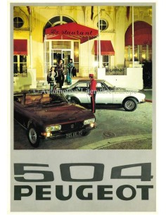 1976 PEUGEOT 504 BROCHURE DUTCH